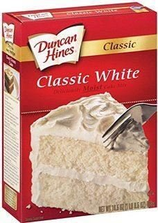 Duncan Hines Classic White Moist Cake Mix 15.25oz (Pack of 2)