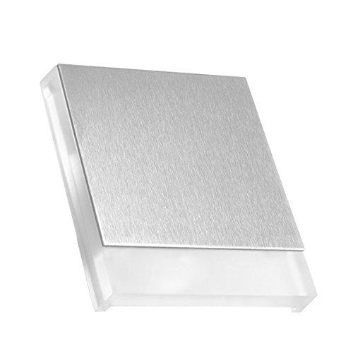 LED Treppenbeleuchtung KID aus Aluminium und Plexiglas für Schalterdoseneinbau 68mm - Quadratisch - Eckig -Warmweiß 3000k [Stufenbeleuchtung - Wandbeleuchtung - indirekt]