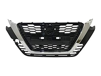 AutoModed Front Bumper Grille Replacement for 2019 2020 Nissan Altima | Chrome ABS | by AutoModed