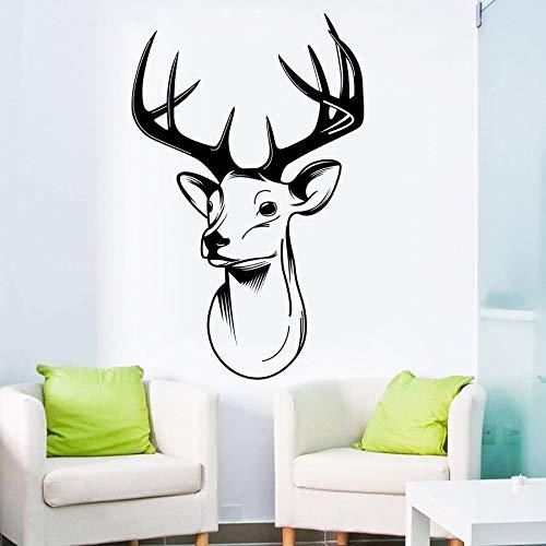 Yaonuli muursticker met hertenkop, stress, muurschildering, decoratie voor woonkamer, gewei, trofee, muurkunst