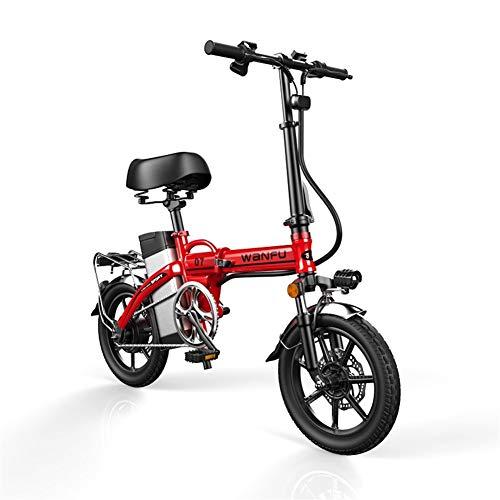 Bicicleta Eléctrica Plegable Adulto 14 pulgadas marco de las ruedas de aleación...
