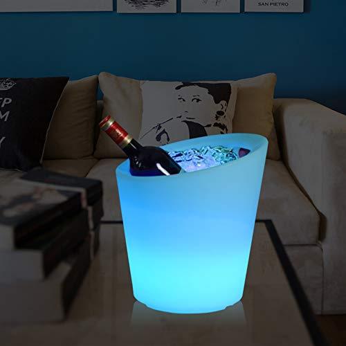 Portaghiaccio LED colorato colore luminoso che cambia impermeabile per il secchiello di ghiaccio a barretta del partito Atmosphere Atmosphere forniture del vino Secchio Telecomando Raffredda bottiglie