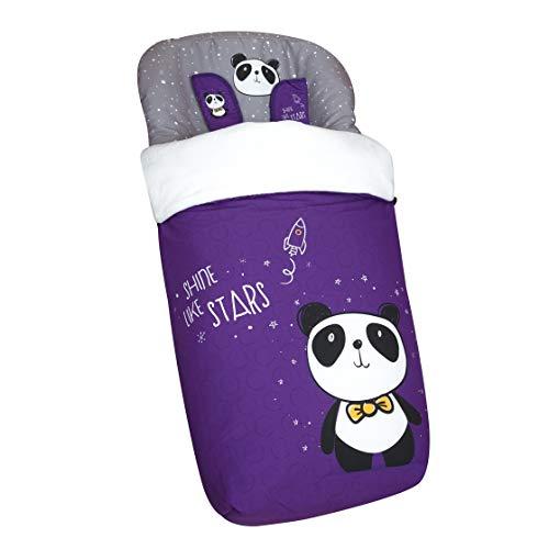 Originalbaby - Sacco universale per passeggino, con coprigambe in pile, rimovibile con cerniere, lavabile in lavatrice panda