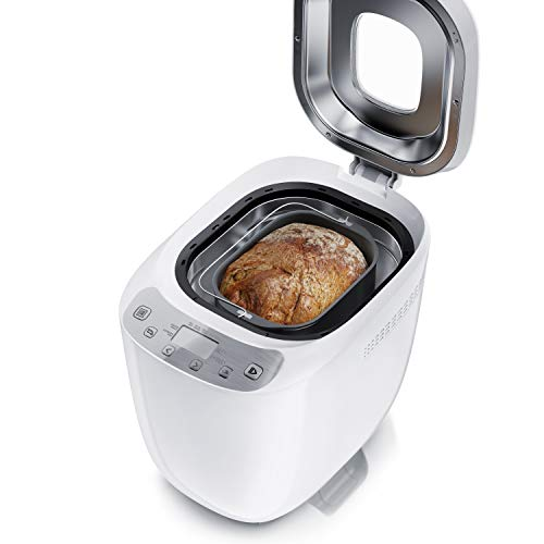 Arendo - Brotbackautomat - Brotbackmaschine 12 Programme - glutenfrei Backen - 700-1000 g - Direktantrieb - Brotbackkammer mit Sichtfenster - Warmhaltefunktion - Antihaftbeschichtung - BPA-frei