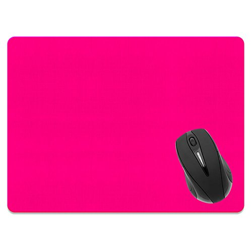 Extra Large (X-Large) Size Non-Slip Rectangle Mousepad, FINCIBO Solid Hot Pink Mouse Pad for Home, Office and Gaming Desk