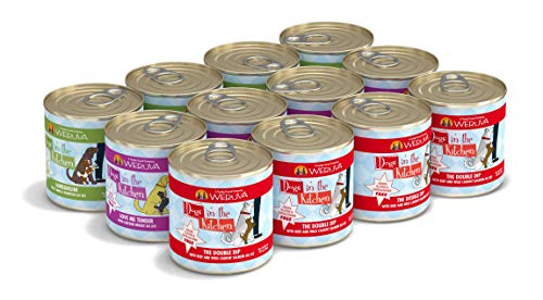 Weruva Dogs In The Kitchen, Variety Pack, Doggie Dinner Dance!, Wet Dog Food, 10Oz Cans (Pack Of 12)