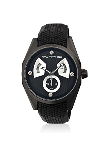Morphic Men's MPH3404 M34 Series Black/Charcoal Silicone Watch