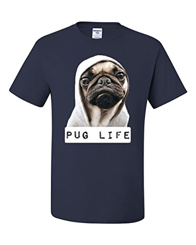 Tee Hunt Pug Life – Playera Divertida con Texto en inglés Dope Thug Life, para Perro, Parodia y Hipster,…