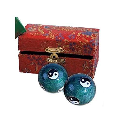 dsnetz Qi-Gong-Kugeln Yin Yang mit I Ging Grün mit Klangwerk 2St. 4cm mit Box | Meditation Klangkugeln | Esoterik Geschenke günstig kaufen