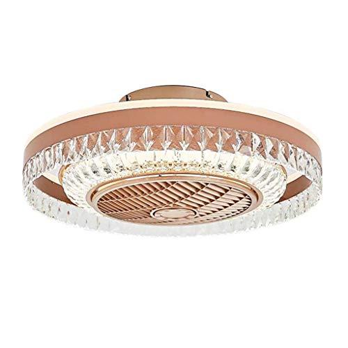 BBZZ Luz invisible para ventilador de tres colores con control remoto, ventilador de cristal europeo, lámpara de techo apta para dormitorio, sala de estar, comedor, cocina, etc.