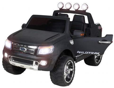Actionbikes Motors Kinder Elektroauto Ford Ranger - 2 / 4 x 45 Watt Motor (Schwarz Matt lackiert)