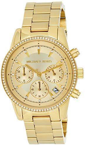 10 Best Women's Watches Under 500 In 2020 - Michael Kors 37mm Ritz Watch