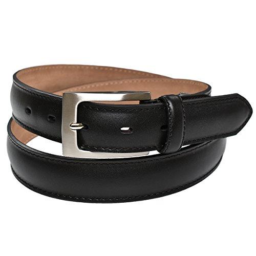 [タバラット] ベルト メンズ 本革 30㎜ サイズ調節可 ビジネス ビジカジ フラットシリーズ (ブラック)