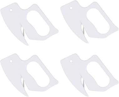 Letter Opener Envelope Slitter Envelope Opener (White - 4 Packs)