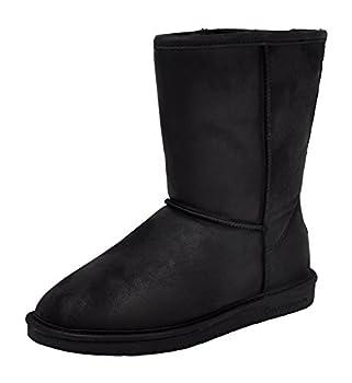 Bearpaw Emma Short - 8 Inch Sheepskin Boots - 608w Black - 9 Wide