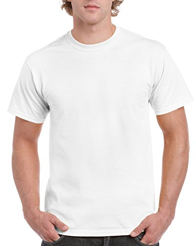 White Gildan Men's Cotton T-Shirts, $2.88  ea. SM to 5XL YMMV