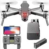 PUKEFNU Drones avec caméra HD 4K pour Les Adultes débutants, FPV Pliable Télécommande RC Quadcopter WiFi Live Video VR 3D Altitude Hover Plan Follow Me Mode sans tête pour Enfants garçons Jouets
