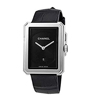 Chanel Boy-Friend Black Guilloche Dial Ladies Watch H4884