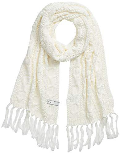 Calvin Klein Scarf 30X180 Set di Accessori Invernali, Bianco, Etichettalia unica Donna