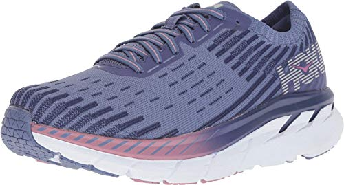 Hoka Womens Clifton 5 Knit, Marlin/Blue Ribbon, 6
