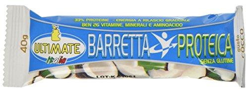 Barretta Proteica – Barretta Con Il 33% Di Proteine - Con Vitamine, Minerali E Aminoacidi – Ideale Nella Dieta Per Il Potere Saziante E Per Appagare La Voglia Di Dolce - Gusto Cocco - Ultimate Italia
