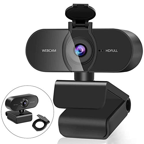 Aode Webcam mit Mikrofon Full HD 1080P PC Web Kamera fur Videoanrufe Studieren Konferenz und Live Streaming Webcam Kompatibel mit WindowsChromeMac OS