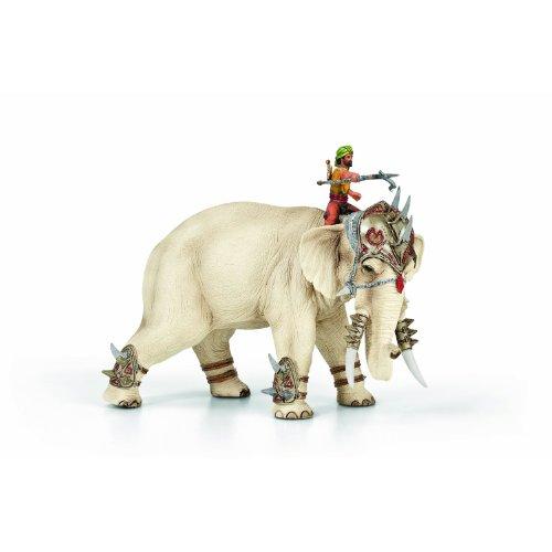 Schleich - Der mächtige Kampfelefant mit Reiter und Aufsatz als Set 70063 & 42079