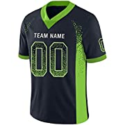 Material: 100%polyester, Mesh Design, Sweat-wicking fabric to help keep you cool, dry and comfortable. All player name and numbers are stitched, Or you can choose full sublimation printed professional,No Chance of Cracking, Fading, or Peeling. This i...