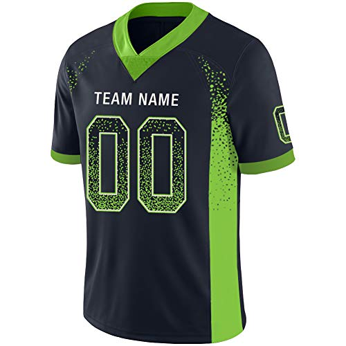 Custom Football Jerseys Customized Mesh Team Uniforms Personalized Printed&Stitched Name&Number for Men S