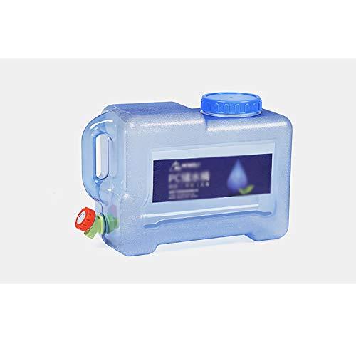 XCYYBB Depósito De Agua,Bidón Garrafa Plástico,Transparente - Portátil,Almacenamiento Barril De Agua Potable...