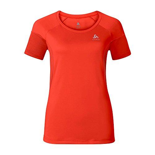 Odlo T- Shirt s/s VERSILIA Haut Femme, Tomate Cerise, XS