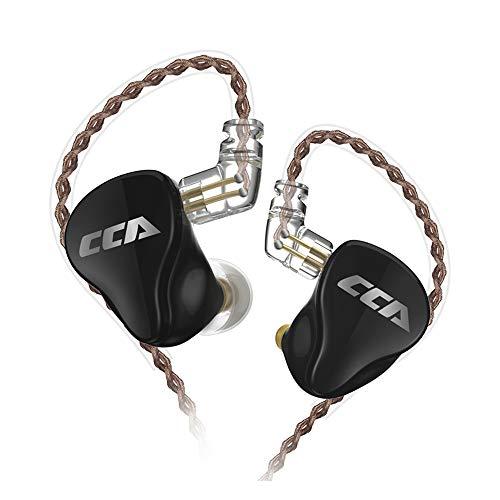 CCA CA16 7BA+1DDハイブリッド型イヤホン 7mm二重磁束低音域ダイナミックドライバー*1&30095オリジナル高音と極高音域バランスドアーマチュアドライバー*3&50024オリジナル中音域複合バランスドアーマチュアドライバー*2が搭載され 金メッキ3.5mmステレオプラグ及び0.75mm2pinコネクタをもってリケーブル可能ハイエンドインナーモニター 重低音や や人間工学に基づいて設計された中華製HIFIイヤホン (マイクなし)