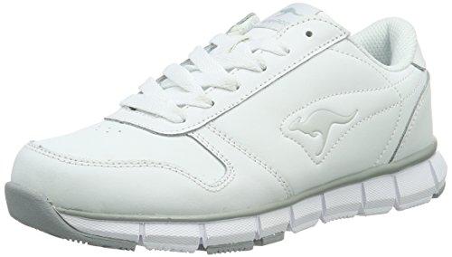 KangaROOS K-BlueRun 700 B Low-Top Unisex-Erwachsene, Weiß (White/Lt Grey 002), 37 EU