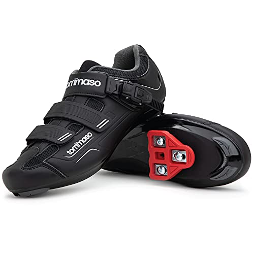 Tommaso Strada 200 Dual Cleat Compatible Indoor Cycling Class Ready Bike Shoe - Look Delta - 47 Black