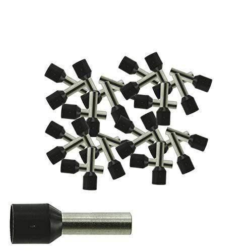 Aderendhülsen von 0,34-50 mm² isoliert 10-1000 Stück Auswahl: (100 Stück, 6.0 mm² schwarz)