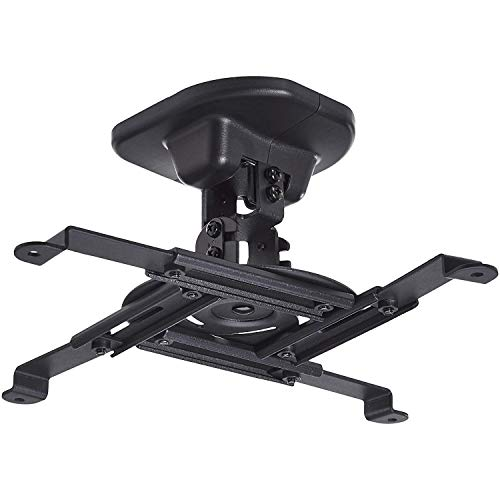 Amazon Basics Tilting Projector Bracket Mount for Ceiling and Wall, 15 kg / 33lbs Capacity, Black