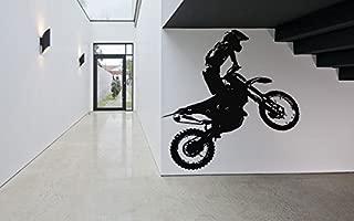 Wall Decal Sticker Bedroom sport dirt bike motorcycle kids boys teenager room 258b