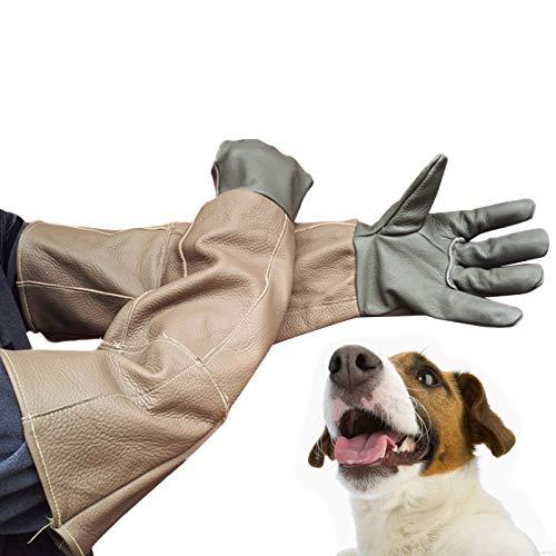 Tierhandhabungshandschuhe Sibirische Husky Handling Handschuhe Bissprüfung, Verdickter Rindsleder Tier Hund Katze Kratzer Vogel Handling Falcon Handschuhe Reptilien Eichhörnchen Schlangenbiss Wiederve
