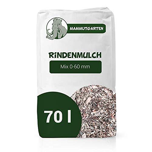 MammutGarten Rindenmulch Kiefer Rinde Garten Mix 0-60mm 70l Sack