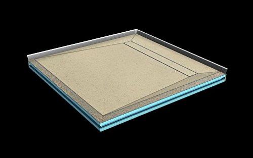 Kerlite LINE Board bis 2,4 m² mit Duschrinne