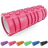 ActiveForever Faszienrolle Massagerolle Fitnessrollen Schaumstoffrolle Fitness Sport Sechs Farben Sind Erhältlich (Rosa)