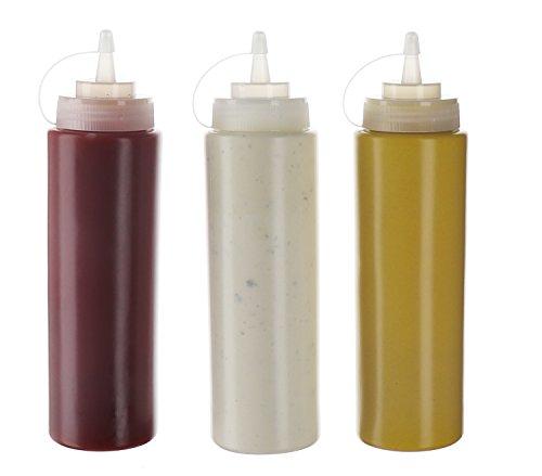 (Pack de 3) Botellas de Plastico Grandes 590 ml con Tapas de Rosca