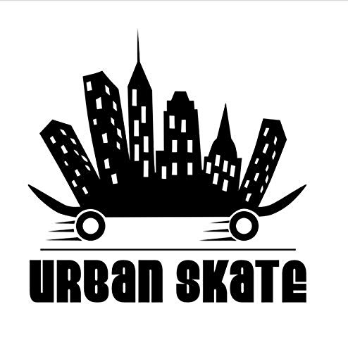 Wandaufkleber Applikation Tapetevinyl Wanddekoration Aufkleber Limit Skateboard Selbstklebende Männer 44 * 43Cm