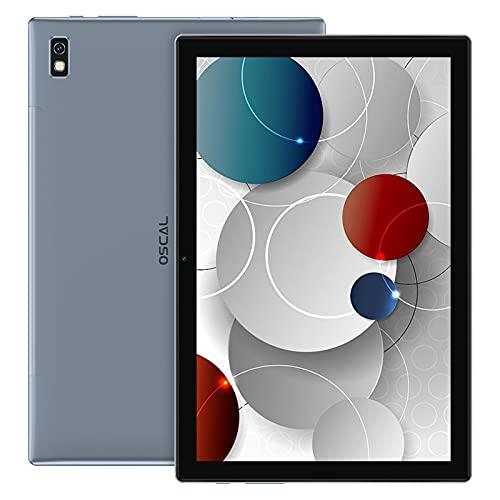 OSCAL Pad8 Tablet 10 Pulgadas 4G LTE+5G WiFi Android 11, 4GB RAM+64GB ROM (TF 128GB), Octa-Core, Batería 6580mAh, Tableta con Cámara 5MP+2MP,Dual SIM/Face ID/GPS/OTG/Bluetooth - Grey