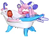 Polesie Puppenbadewanne mit Puppe und Zubehör