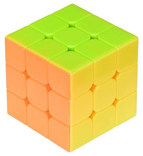 U-Mest Triangle Pyramid Pyraminx Magic Cube Speed Puzzle Twist Toy Game Education (Pink)