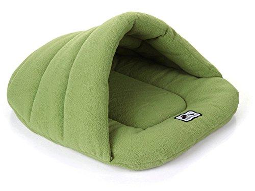 jysport chaud Pet Sac de couchage Sac de couchage confortable pour animaux Lits couverture Snuggle Sac pour tapis de Chiot/chaton Green, 48*58cm