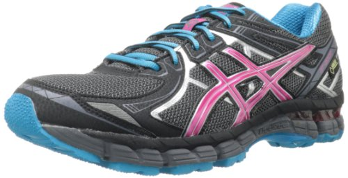 ASICS Women's GT 2000 2 G-TX Running Shoe,Titanium/Fuchsia Purple/Black,6 M US