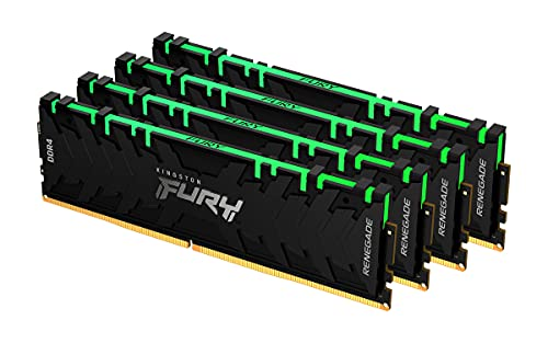Kingston FURY Renegade RGB 128GB (4x32GB) 3600MHz DDR4 CL18 Memoria para Ordenadores de sobremesa Kit de 4 KF436C18RBAK4/128