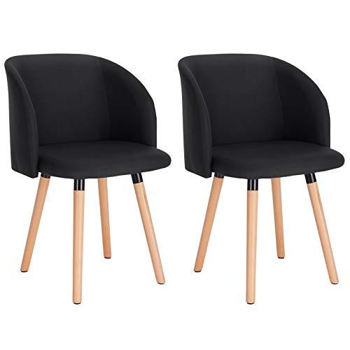 WOLTU 2X Sillas de Comedor Nordicas Estilo Vintage Dining Chairs Juego de 2 Sillas de Cocina Tulip S